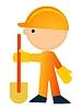 挖掘机 | 向量插图