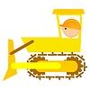 Vector clipart: bulldozer driver