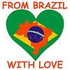 Vector clipart: from Brazil with love