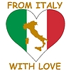 Vector clipart: from Italy with love