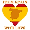 Vector clipart: from Spain with love