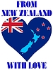 Vector clipart: from New Zealand with love