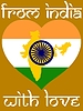 Vector clipart: from India with love