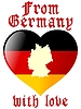 Vector clipart: from Germany with love