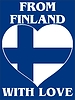 Vector clipart: from Finland with love