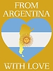 Vector clipart: from Argentina with love
