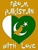 Vector clipart: from Pakistan with love