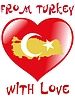 Vector clipart: from Turkey with love