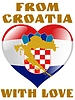 Vector clipart: from Croatia with love