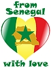 Vector clipart: from Senegal with love