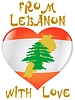 Vector clipart: from Lebanon with love
