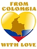 Vector clipart: from Colombia with love