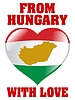 Vector clipart: from Hungary with love