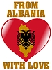 Vector clipart: from Albania with love