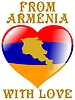 Vector clipart: from Armenia with love