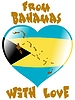 Vector clipart: from Bahamas with love