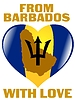 Vector clipart: from Barbados with love