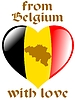 Vector clipart: from Belgium with love