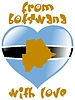 Vector clipart: from Botswana with love