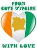 von Cote d'Ivoire mit der Liebe