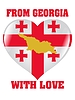 Vector clipart: from Georgia with love