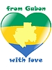 Vector clipart: from Gabon with love