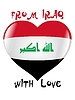 Vector clipart: from Iraq with love