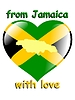 Vector clipart: from Jamaica with love