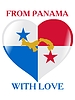 Vector clipart: from Panama with love