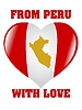 Vector clipart: from Peru with love