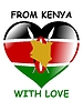 Vector clipart: from Kenya with love
