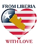 Vector clipart: from Liberia with love
