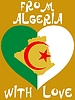 Vector clipart: from Algeria with love