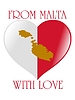 Vector clipart: from Malta with love