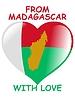 Vektor Cliparts: aus Madagaskar mit Liebe