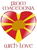 Vector clipart: from Macedonia with love