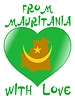 Vector clipart: from Mauritania with love