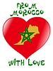 Vector clipart: from Morocco with love