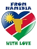Vector clipart: from Namibia with love