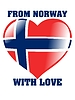 Vector clipart: from Norway with love