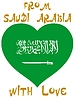 Vector clipart: from Saudi Arabia with love