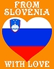 Vector clipart: from Slovenia with love