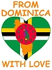 Vector clipart: from Dominica with love