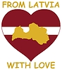 Vector clipart: from Latvia with love