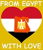 Vector clipart: from Egypt with love