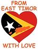 Векторный клипарт: из Восточного Тимора с любовью