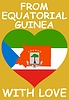Vector clipart: from Equatorial Guinea with love
