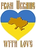 Vector clipart: from Ukraine with love