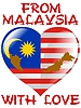 Vector clipart: from Malaysia with love