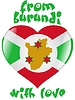 Vector clipart: from Burundi with love